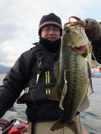 冬の琵琶湖でアラバマリグ.JPG