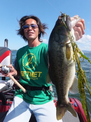 夏の琵琶湖で釣れるワームは 8月2日.JPG