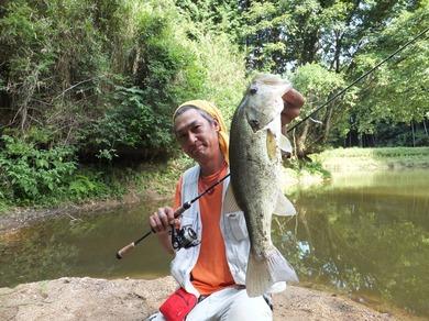 夏の野池で釣れる 8月5日.JPG