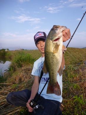 東幡野池で釣れるテキサスリグ 7月10日.JPG