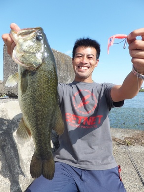 琵琶湖で直リグ.JPG