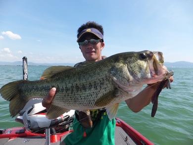 琵琶湖で釣れる直リグ 58cm 7月18日.JPG