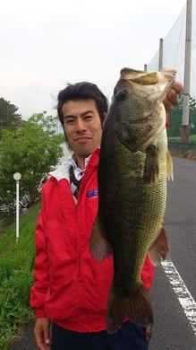 琵琶湖のオカッパリでデカバス釣れる 56cm 5月6日.jpg