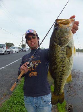 琵琶湖オカッパリで50UPが釣れる直リグ4月30日.JPG