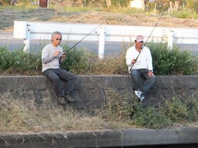 秋の琵琶湖で岸釣り.JPG