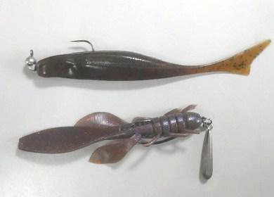 野池で釣れる、フィッシュ45 & ホッグ33 S・カラー.jpg